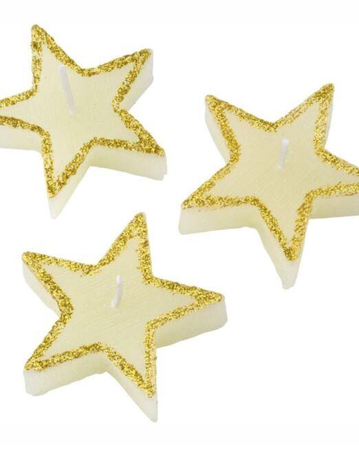 Velas con forma de estrellas