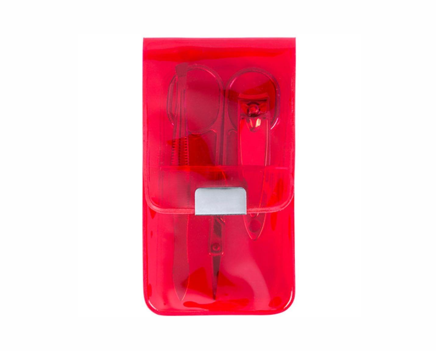 Set Manicura con 3 accesorios. Rojo Regalos Promocionales. Marketing Directo. Regalo de Empresa. Promociones para Ferias y Eventos