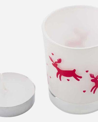 Vaso de cristal navidad