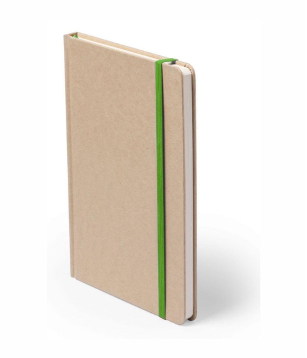 Bloc de notas Cartón Reciclado Personalizable detalle verde