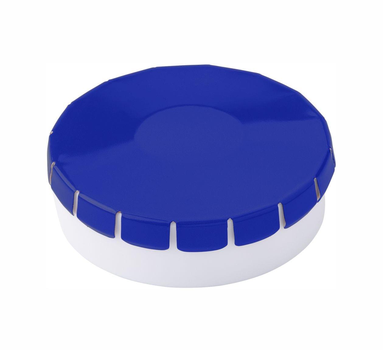 Cajita clic clac con caramelos Publicitarios Azul