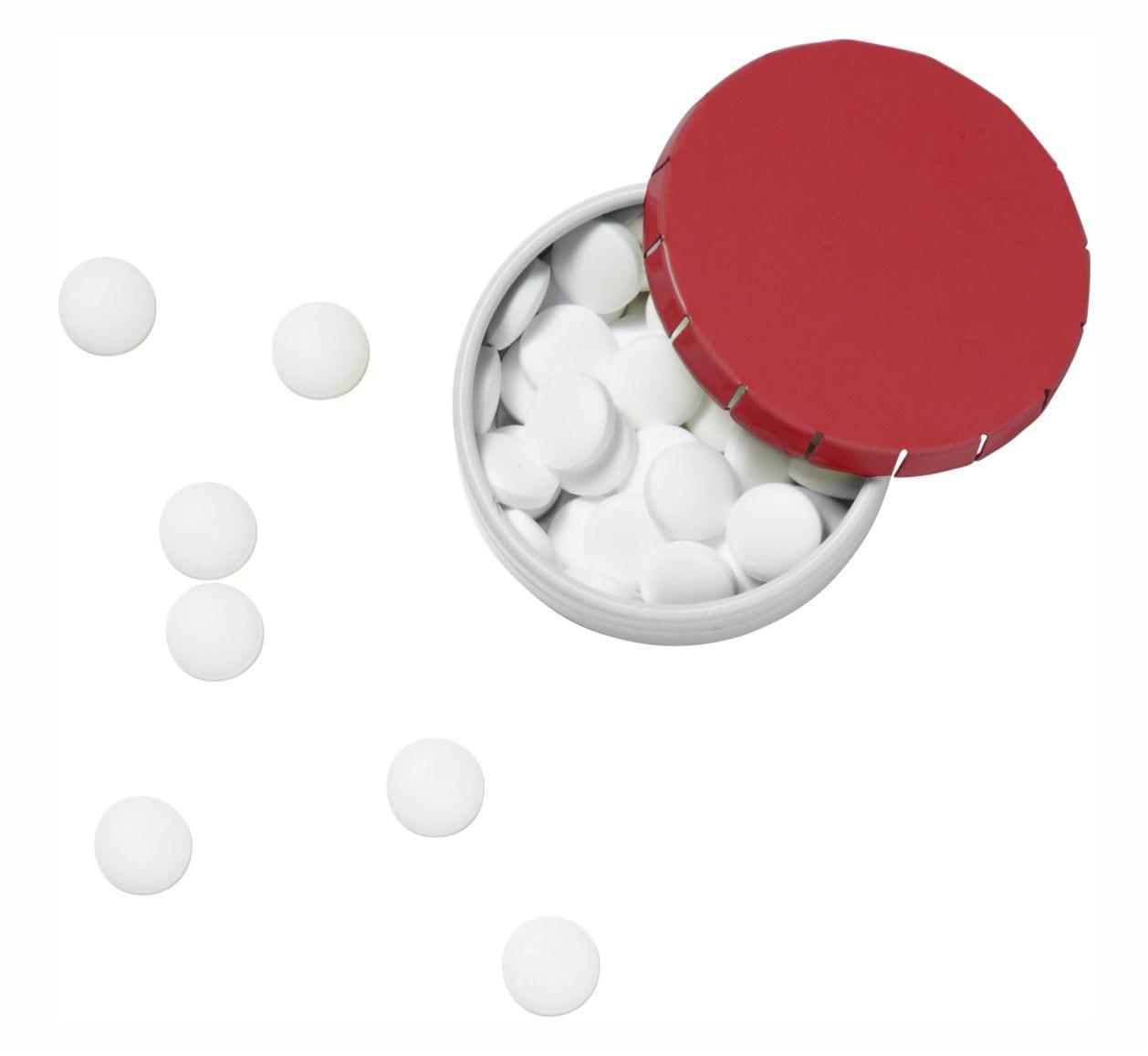 Cajita clic clac con caramelos Publicitarios Roja