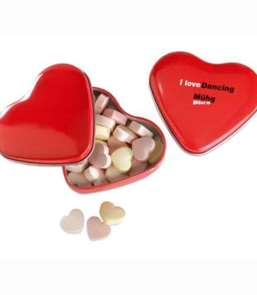 Dispensador de caramelos con forma de corazón. Regalos Promocionales. Marketing Directo. Regalo de Empresa. Promociones para Ferias y Eventos