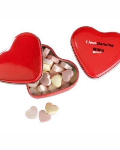 Caja de Caramelos Metálica con Forma de Corazón