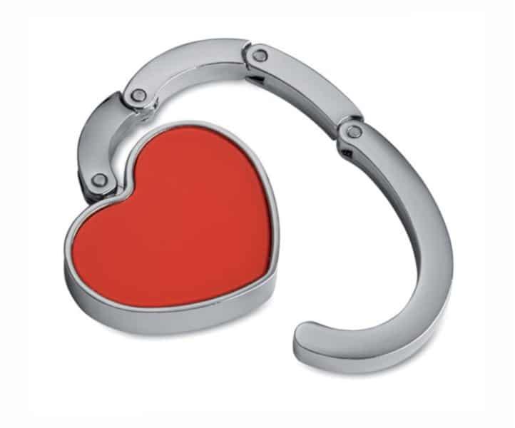 Cuelga Bolsos Forma Corazón