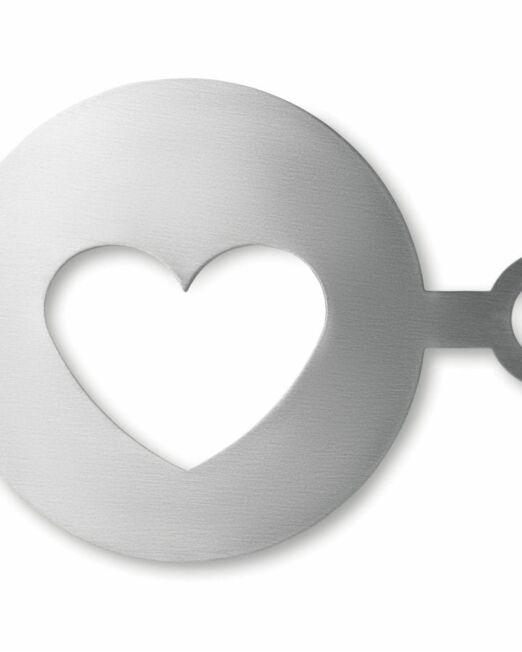 Molde Café Publicitario con forma de Corazón