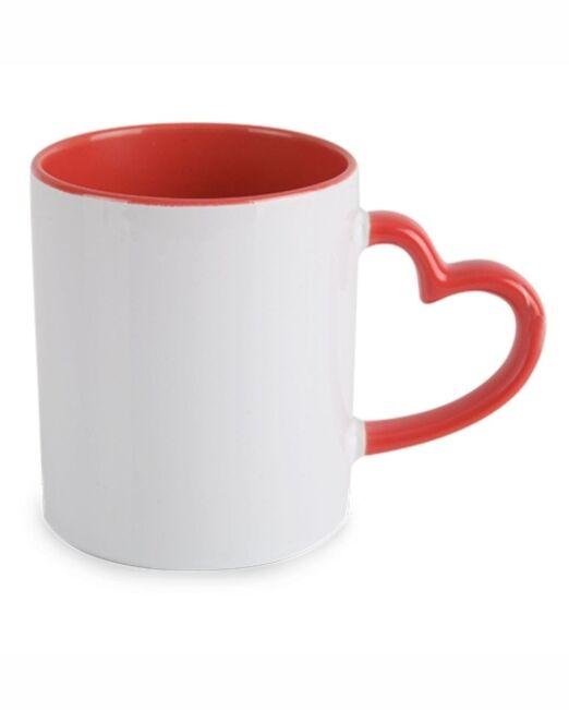 Mug Original con asa en Forma de Corazón personalizable