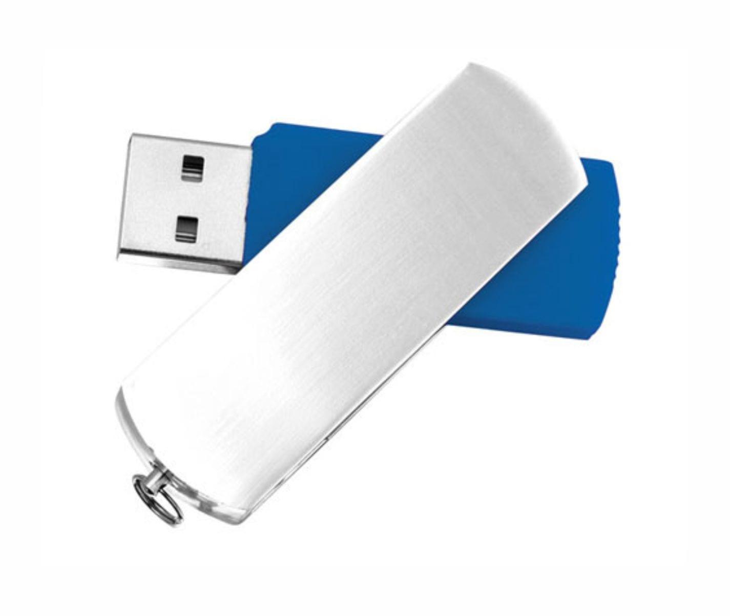 Usb Aluminio Personalizable Azul