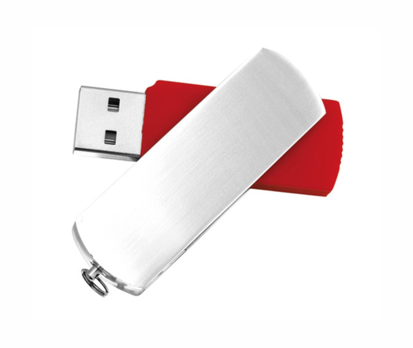Usb Aluminio Personalizable Rojo