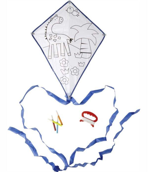Excelente Cometas Volando Para Colorear Ilustración - Enmarcado Para ...