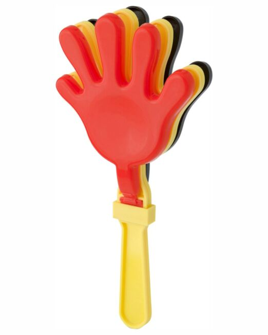 Mano Animación. Multiples Tonos para llevar los Colores de su equipo. De un gran Aplauso a su equipo con ¡¡¡Tres manos!! Aplaudidor de plástico que hará su merchandising muy Llamativa y Divertida. Regalo Personalizado que dará una gran visibilidad a su marca.