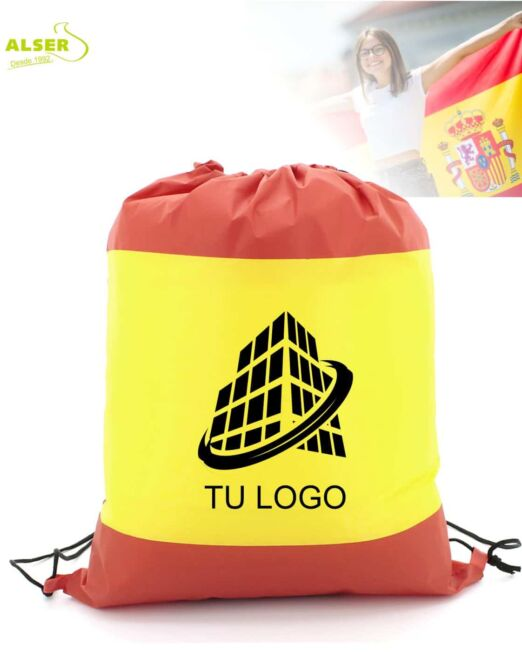Mochila saco bandera española con logo
