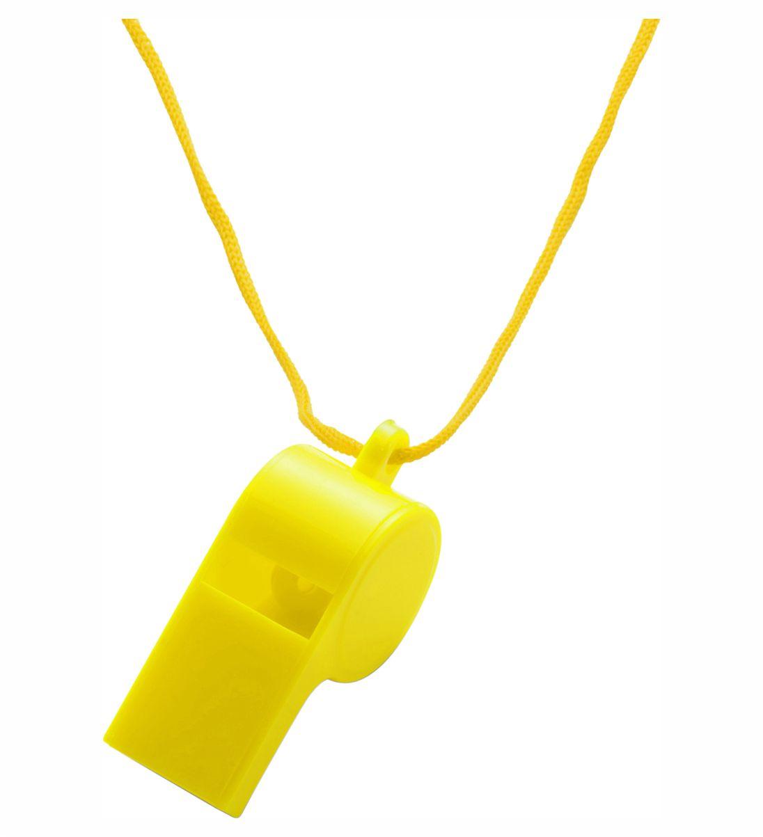 Silbato Cordón Amarillo. Regalo Publicitario