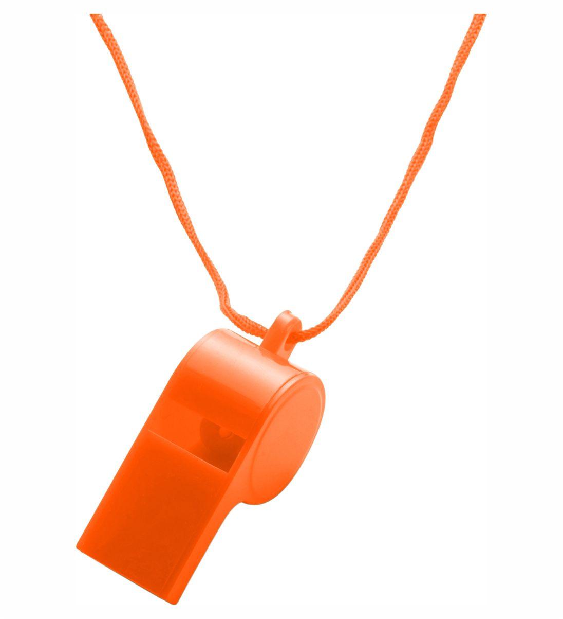 Silbato Cordón Naranja. Regalo Publicitario