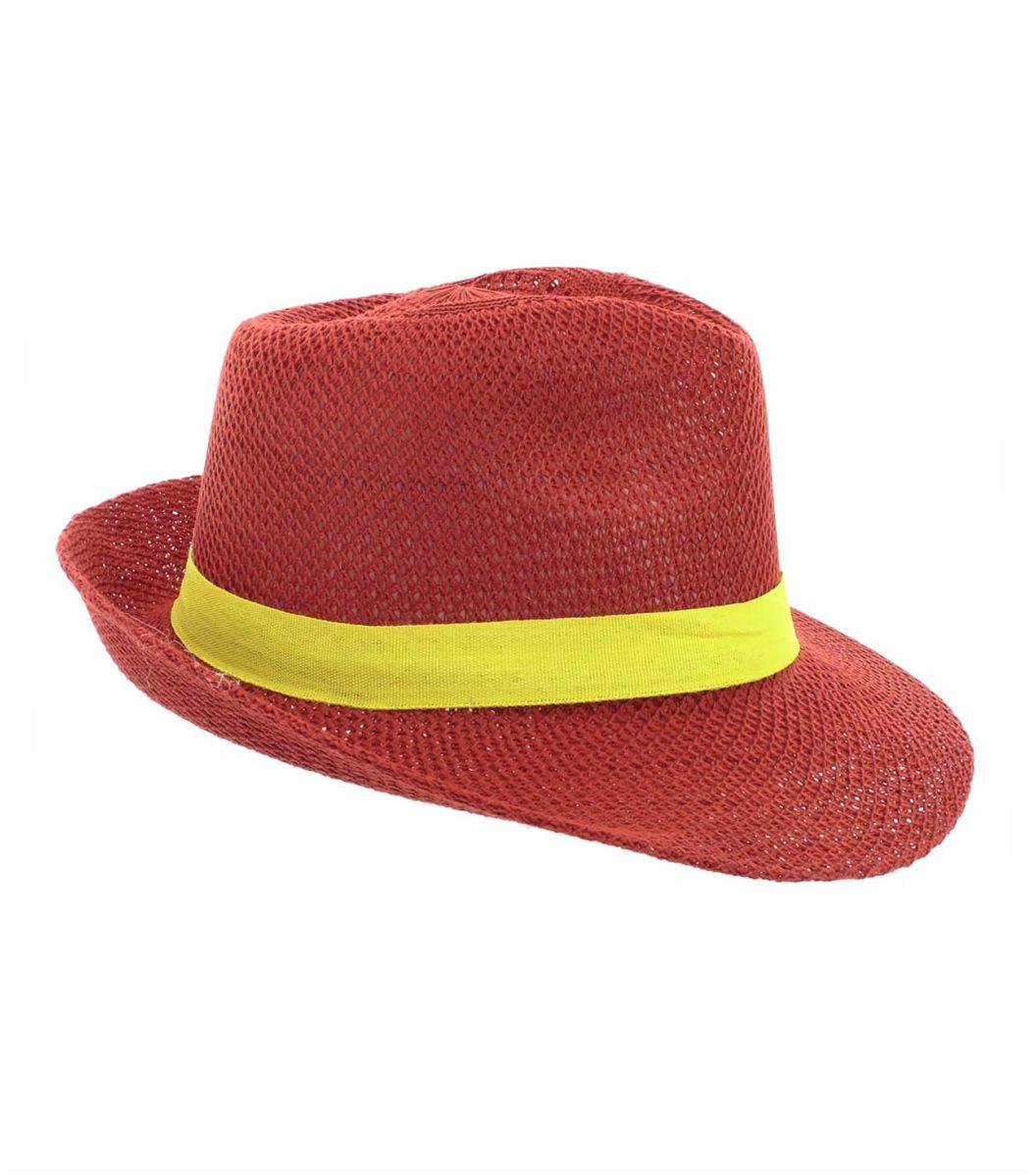Sombrero Ala Ancha rojo Publicitario