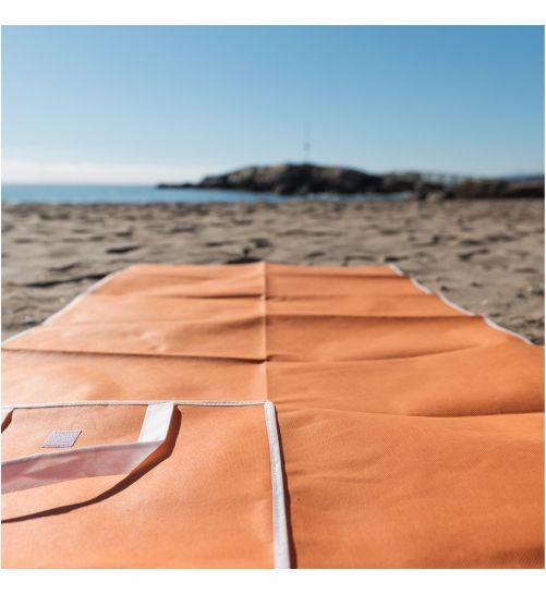 Esterilla Playa en Non-Woven Naranja. Regalo publicitario