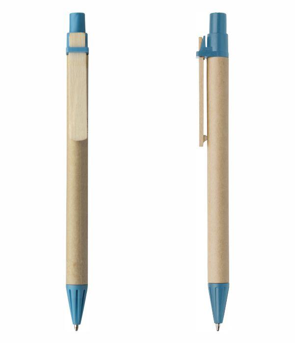 olígrafo Barato Cartón Azul Claro. Regalos de Empresa