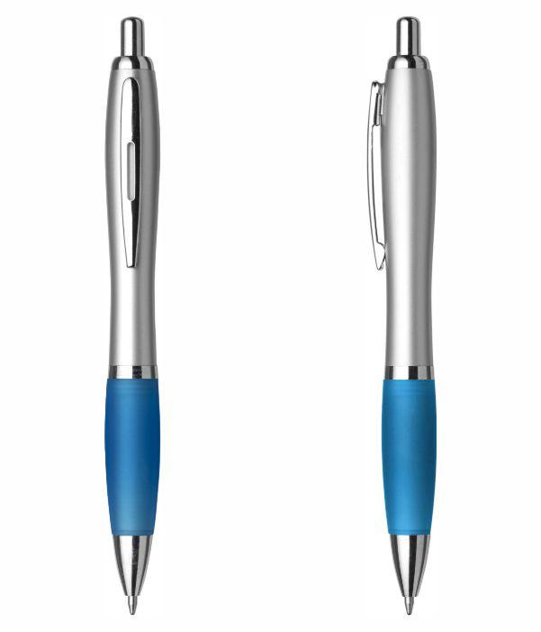Bolígrafo Merchandising Plástico Personalizable. Azul claro. Regalos Publicitarios