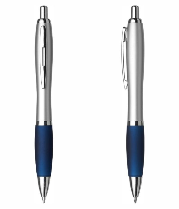 Bolígrafo Merchandising Plástico Personalizable Azul Marino. Regalos Publicitarios