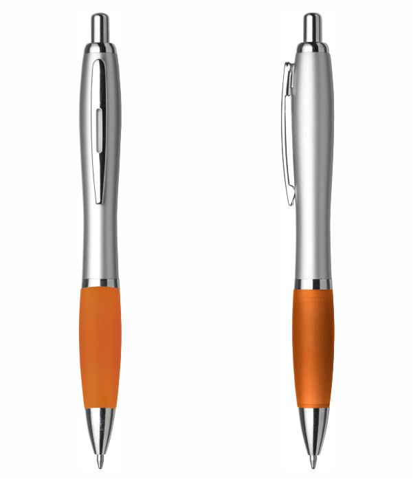 Bolígrafo Merchandising Plástico Personalizable. Naranja.Regalos Publicitarios