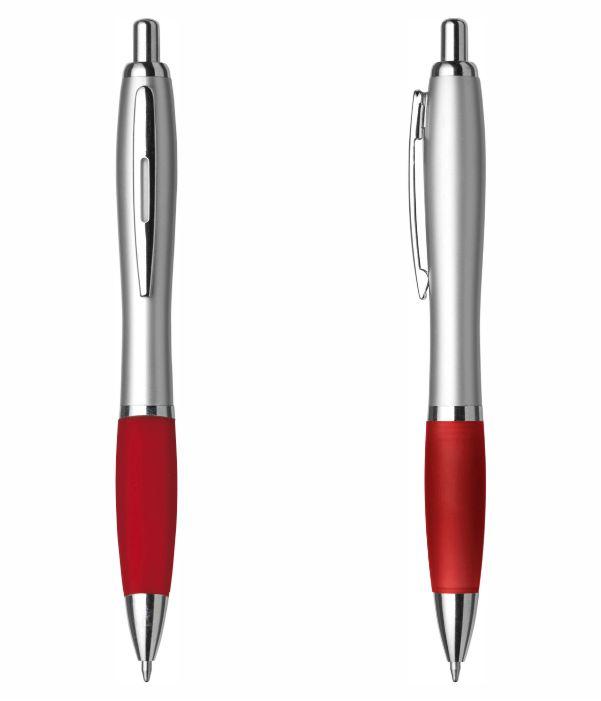 Bolígrafo Merchandising Plástico Personalizable. Rojo. Regalos Publicitarios