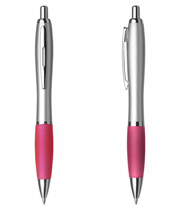 Bolígrafo Merchandising Plástico Personalizable. Rosa. Regalos Publicitarios