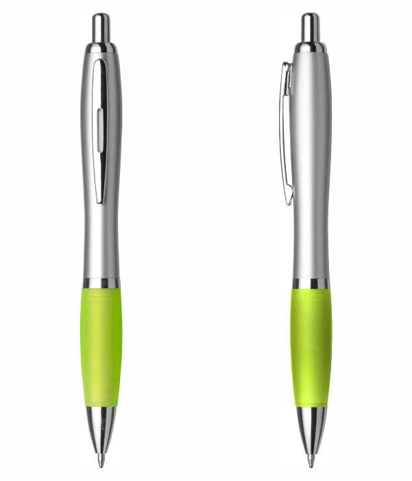Bolígrafo Merchandising Plástico Personalizable Verde Claro.. Regalos Publicitarios