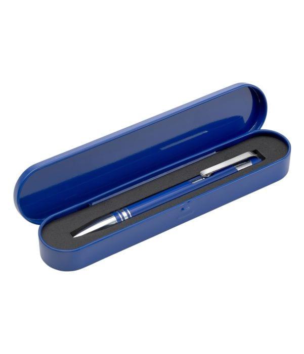 Bolígrafo Metal con Estuche. Azul