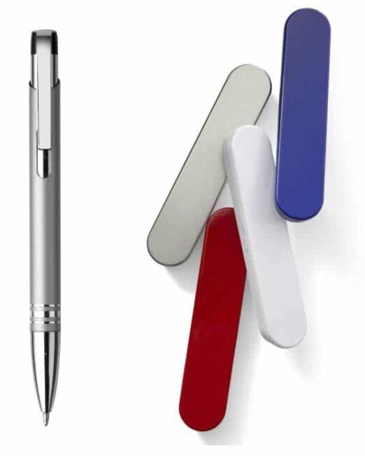 Bolígrafo Metal con Estuche. Colores