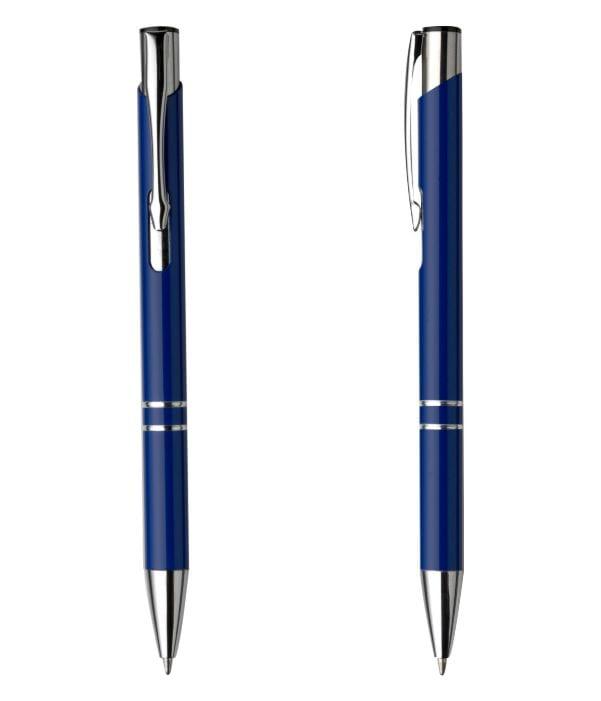 Bolígrafo Publicitario Metal. Azul Marino
