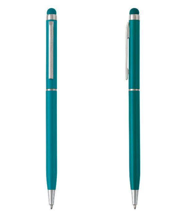 Bolígrafo Touch Aluminio Verde. Artículos Publicidad
