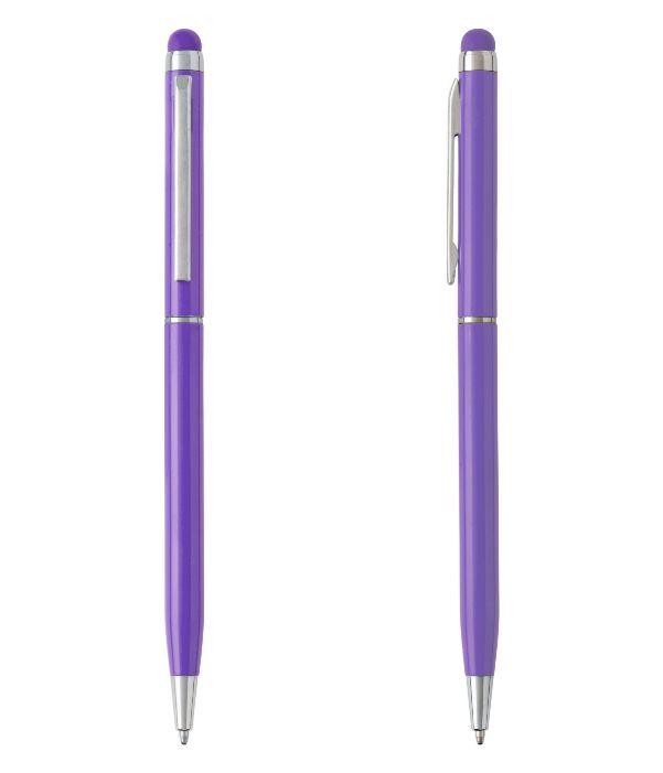Bolígrafo Touch Aluminio Lila. Artículos Publicidad