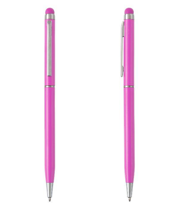 Bolígrafo Touch Aluminio Rosa. Artículos Publicidad