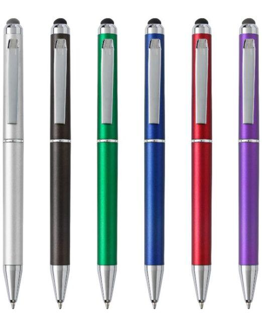 Bolígrafo Touch Giratorio Colores. Artículos Promocionales Madrid