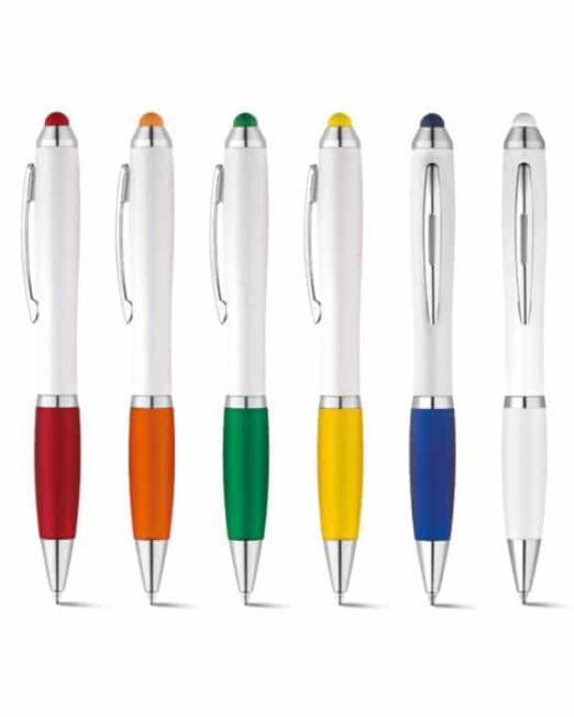 Bolígrafo Touch Publicidad con grip de colores