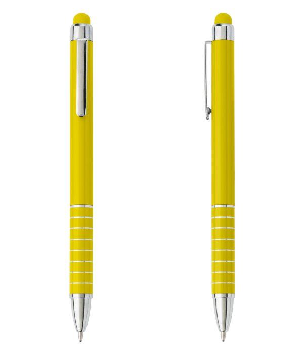Bolígrafo Touch Publicitario Amarillo. Publicidad