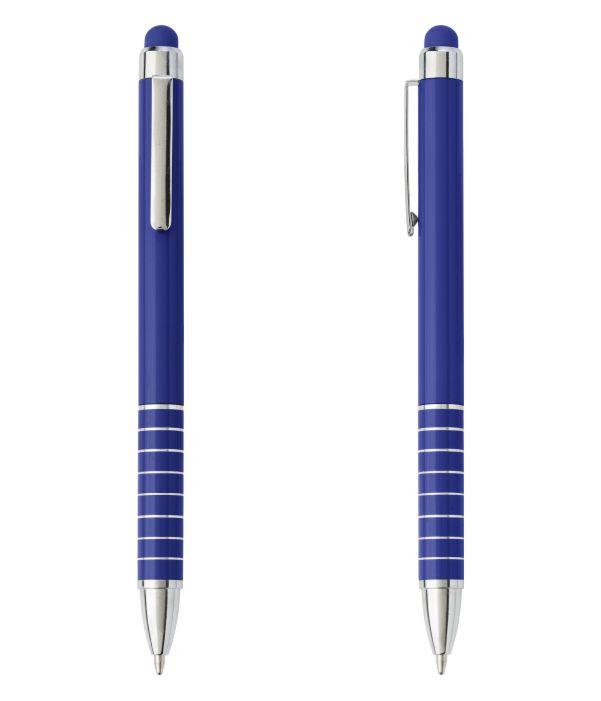 Bolígrafo Touch Publicitario Azul. Publicidad