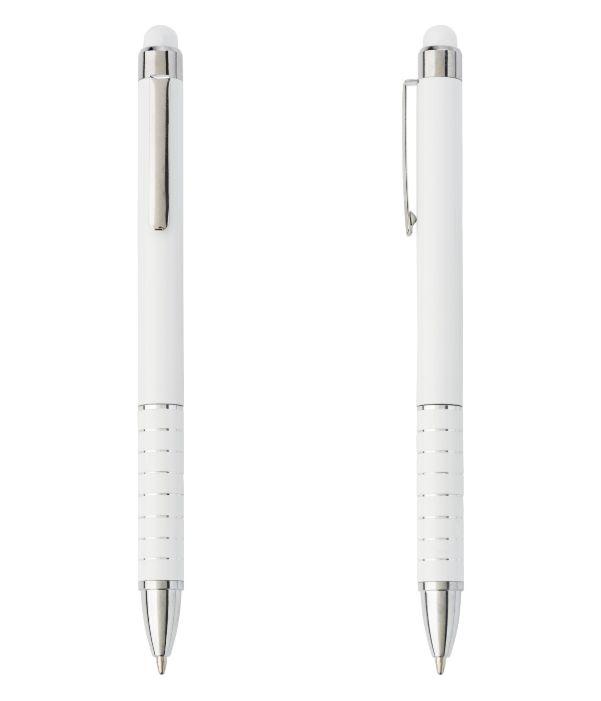 Bolígrafo Touch Publicitario Blanco. Publicidad