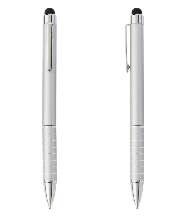 Bolígrafo Touch Publicitario Plata. Publicidad