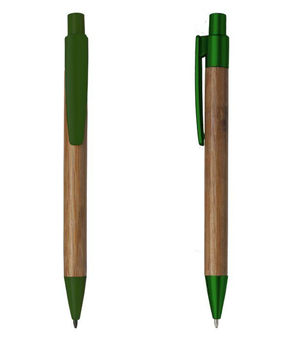 Bolígrafo Ecológico Publicitario Verde. Regalos promocionales