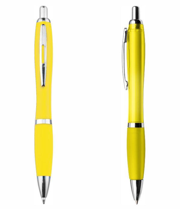 Bolígrafo Plástico Publicitario. Amarillo. Regalos Publicitarios