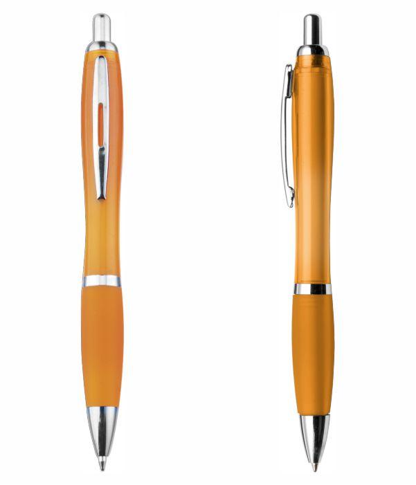 Bolígrafo Plástico Publicitario. Naranja. Regalos Publicitarios