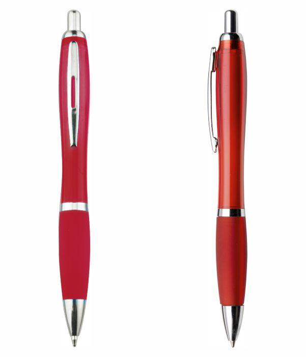 Bolígrafo Plástico Publicitario. Rojo. Regalos Publicitarios