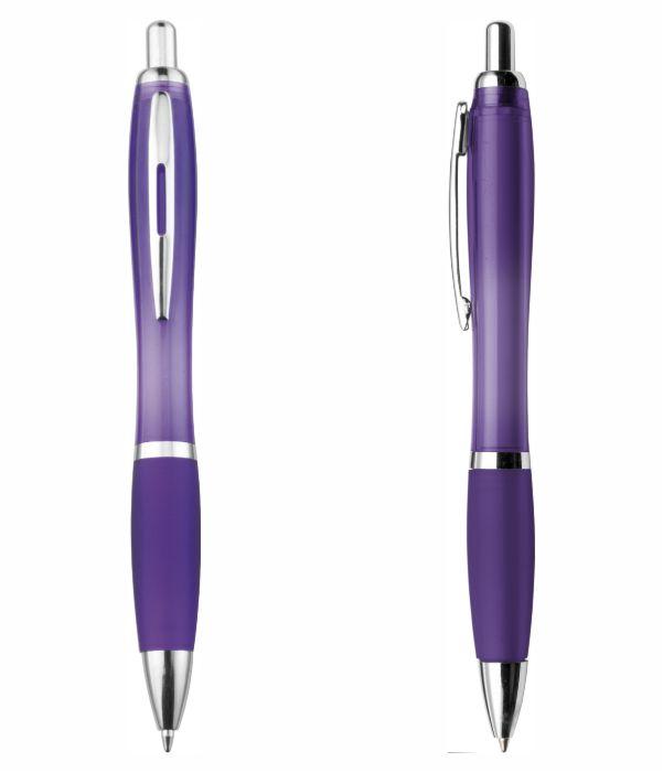 Bolígrafo Plástico Publicitario. Violeta. Regalos Publicitarios