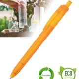 Bolígrafo sostenible PET naranja personalizado