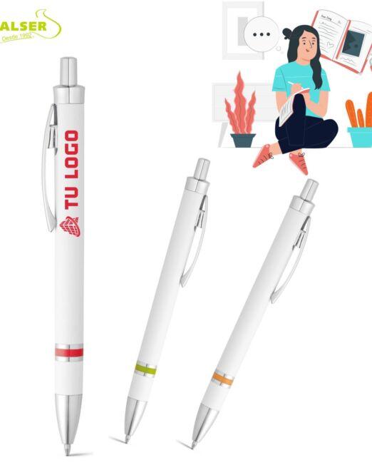 boligrafo de plastico para personalizar con logo