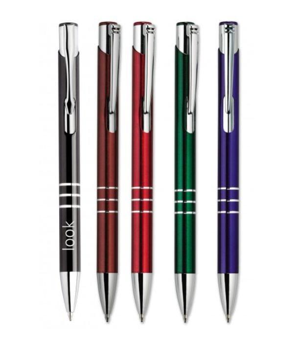 Bolígrafo Metálico Personalizado Colores