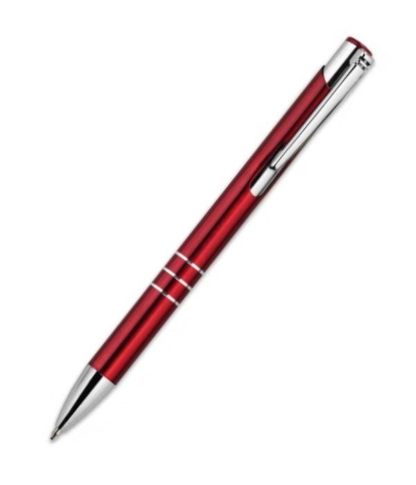 Bolígrafo Metálico Personalizado Rojo