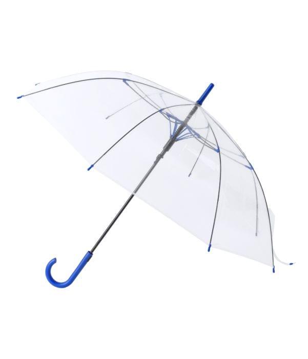 Paraguas Antiviento Transparente Azul