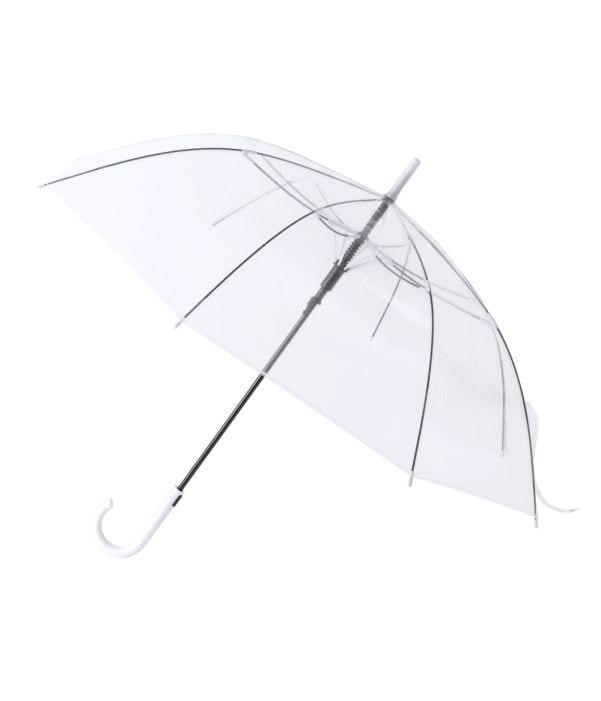 Paraguas Antiviento Transparente Blanco